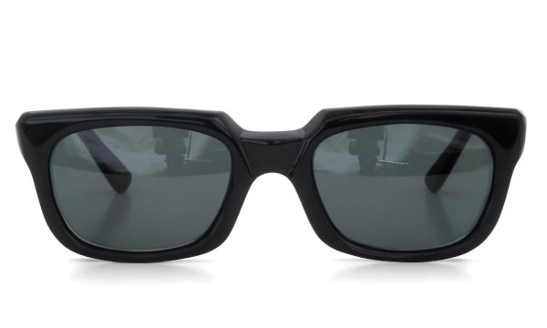 The spectacle 1950s〜1960s Frame Italy IT800 Blk 50-22 #12818