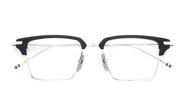 THOM BROWNE TBX422-A-03 52size Silver Navy