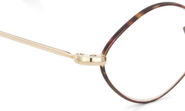 Oliver Goldsmith オリバーゴールドスミス 海外モデル メガネ Diamond with Pad Gold MLS 48size