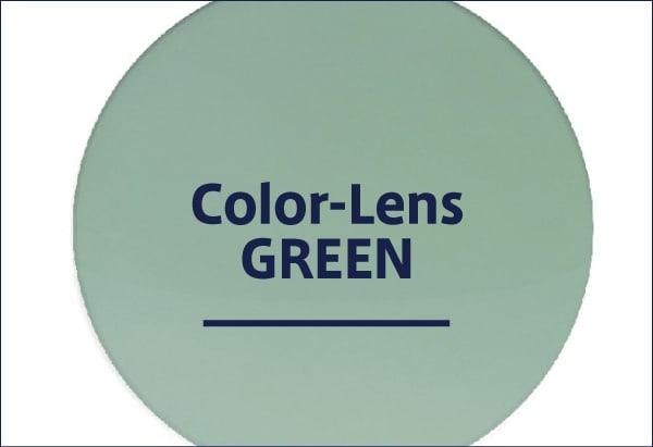 グリーンレンズのサングラス