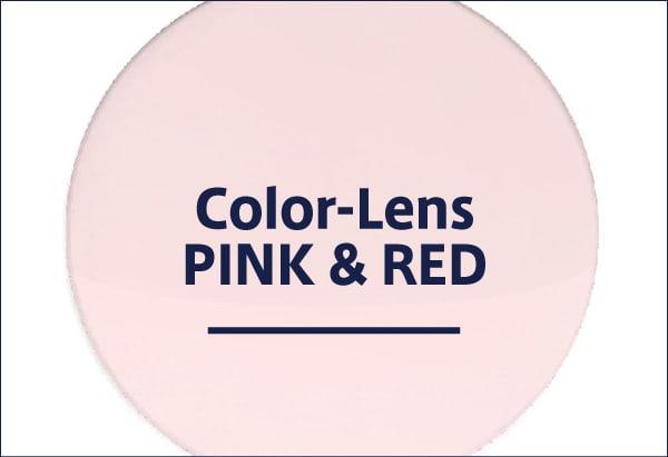 ピンク・レッドレンズのサングラス