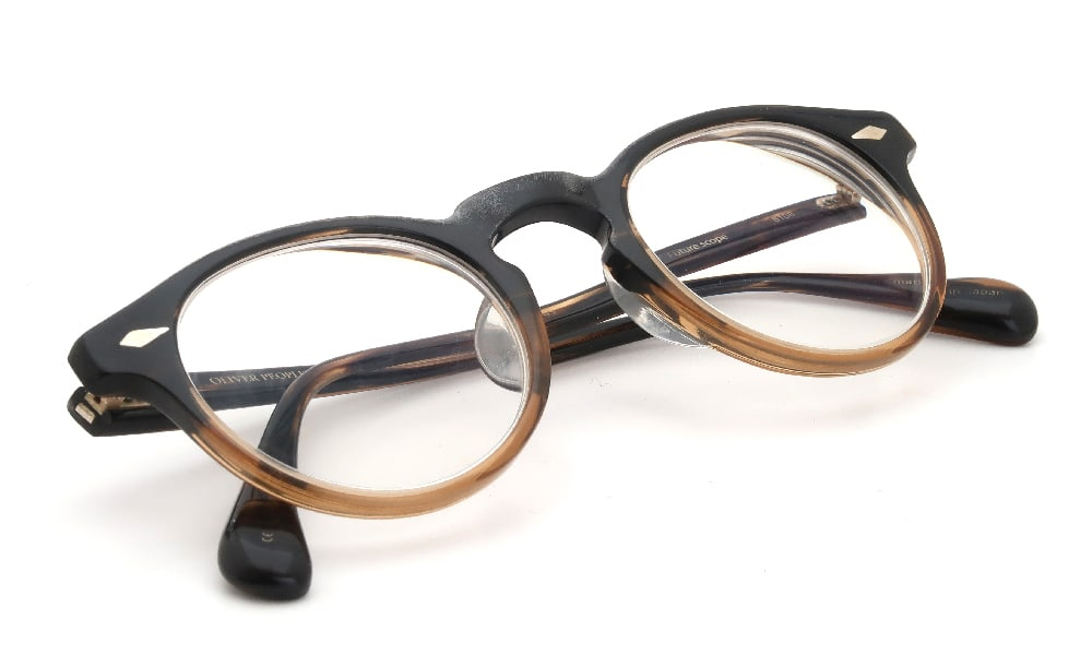 磨き直し No.0033 OLIVER PEOPLES Future scope 8108 加工前