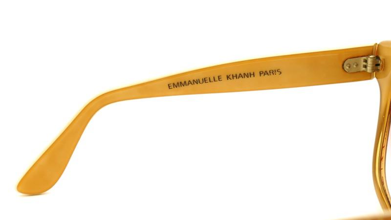 EMMANUELLE KHANH サングラス 8080 64 A イエローオレンジにEKマーク 8