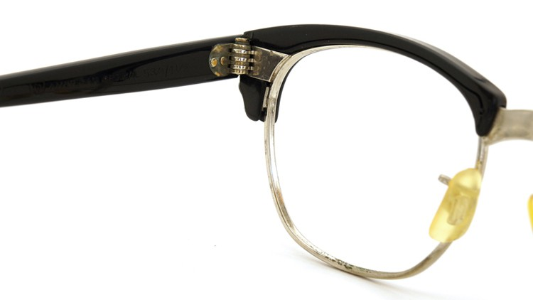 American Optical アメリカンオプチカル 60s (AO)1960s〜1980s サーモントブロー AO鋲 5-3/4 4-1/2 ブラック/シルバー 48サイズ 8