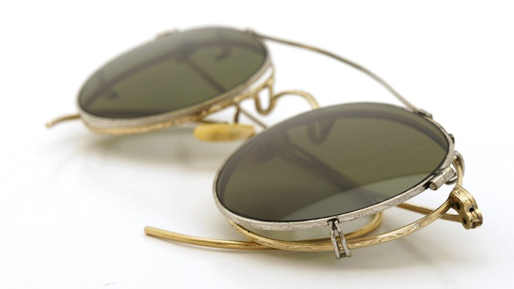 American-Optical 1940's HIBO GOLD WITH WHITE GOLD WWII ARMY CLIPON 10