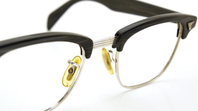 American Optical 60s マルコムX ウイング鋲 1/10 12KGF 5-3/4 44-20 グレーササ/ホワイトゴールド 10