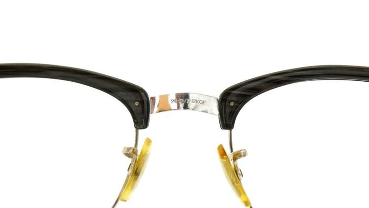 American Optical 60s マルコムX ウイング鋲 1/10 12KGF 5-3/4 44-20 グレーササ/ホワイトゴールド 9