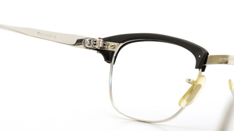 American Optical 60s マルコムX ウイング鋲 1/10 12KGF 6 44-22 ブラック/ホワイトゴールド 7