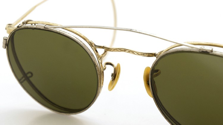 American-Optical 1940's HIBO GOLD WITH WHITE GOLD WWII ARMY CLIPON 11
