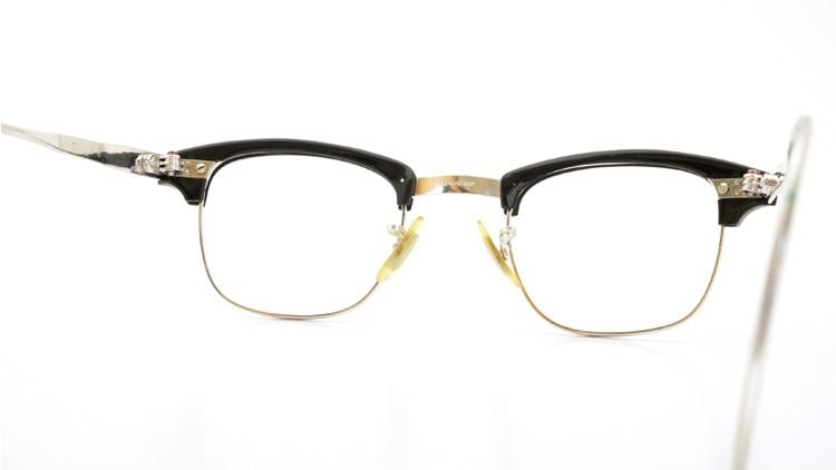 American Optical 60s マルコムX ウイング鋲 1/10 12KGF 6 44-22 ブラック/ホワイトゴールド 6