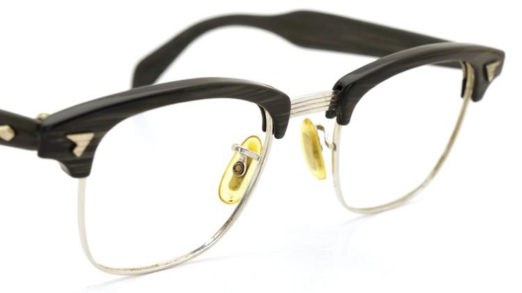 American Optical 60s マルコムX ウイング鋲 1/10 12KGF 5-3/4 44-20 グレーササ/ホワイトゴールド 6