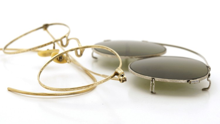 American-Optical 1940's HIBO GOLD WITH WHITE GOLD WWII ARMY CLIPON 16