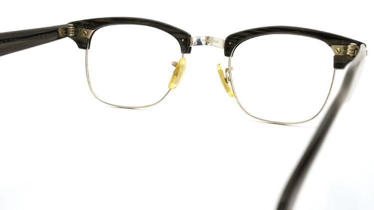 American Optical 60s マルコムX ウイング鋲 1/10 12KGF 5-3/4 44-20 グレーササ/ホワイトゴールド 7