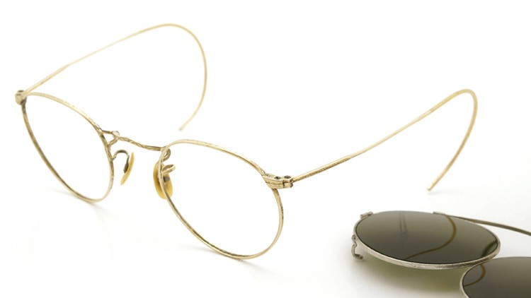 American-Optical 1940's HIBO GOLD WITH WHITE GOLD WWII ARMY CLIPON 14