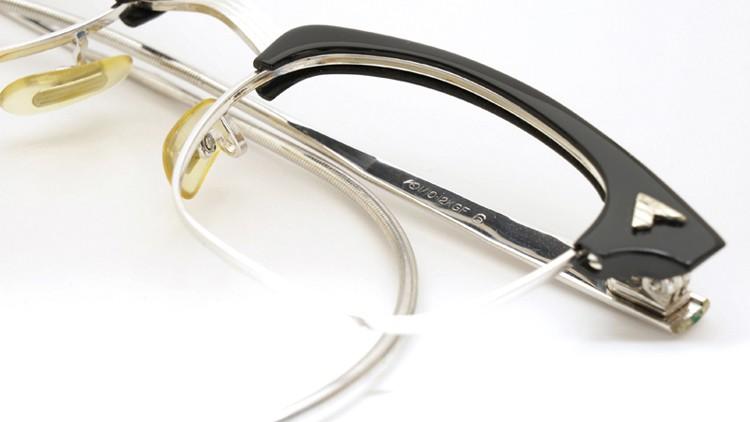 American Optical 60s マルコムX ウイング鋲 1/10 12KGF 6 44-22 ブラック/ホワイトゴールド 10
