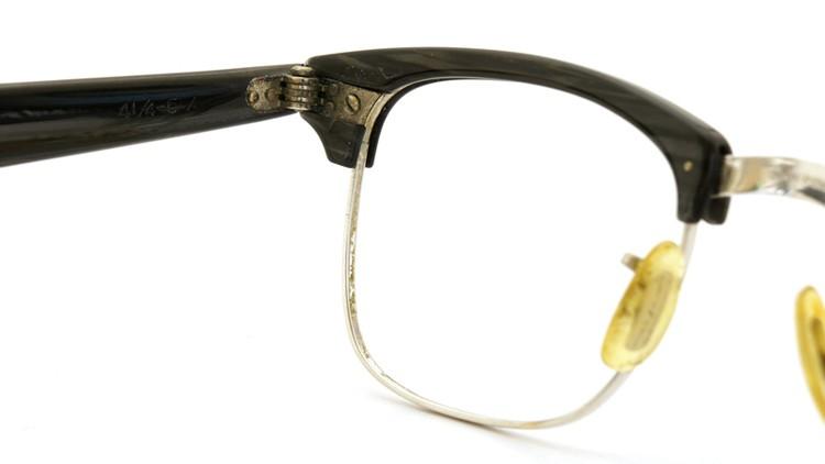 American Optical 60s マルコムX ウイング鋲 1/10 12KGF 5-3/4 44-20 グレーササ/ホワイトゴールド 8