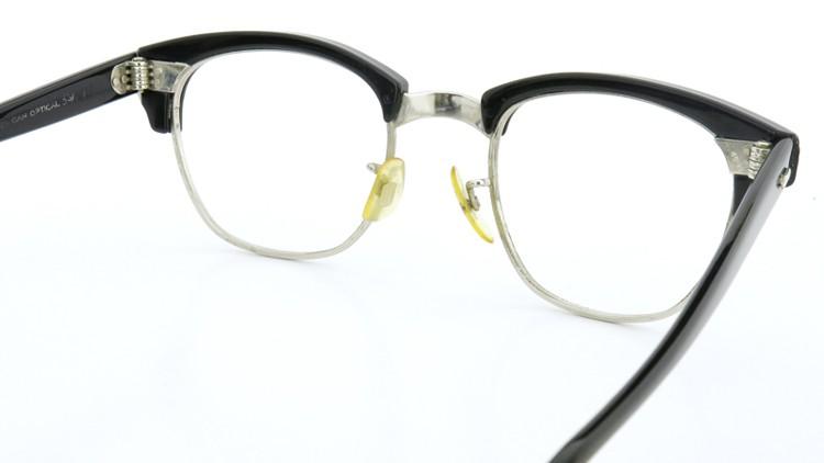 1960s〜1980s サーモント AOシルバー鋲 5-3/4 4-1/2 ブラック/シルバー 7