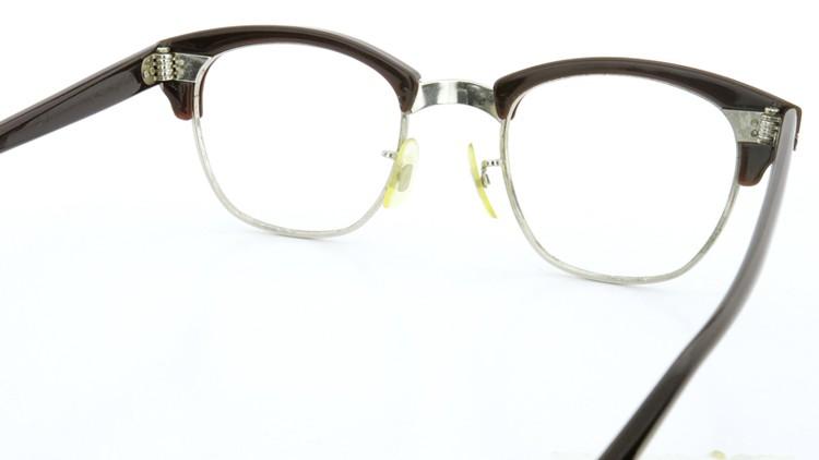 American Optical 60s サーモント 6 4-3/4 AO鋲  チョコレート/シルバー 48size 7