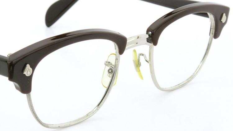American Optical 60s サーモント 6 4-3/4 AO鋲  チョコレート/シルバー 48size 6