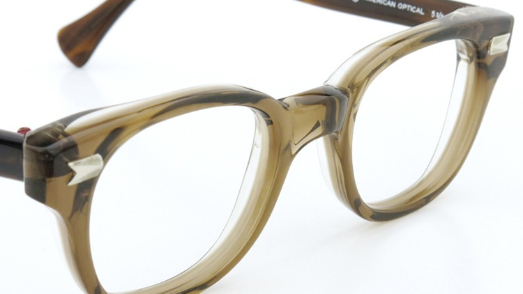 AO ヴィンテージ 5・1/4 アロー鋲 44-21 LIGHT BROWN/CLEAR 6