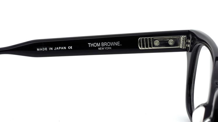 THOM BROWNE. (トムブラウン)メガネ TB-401 A-BLK-49.5size 8