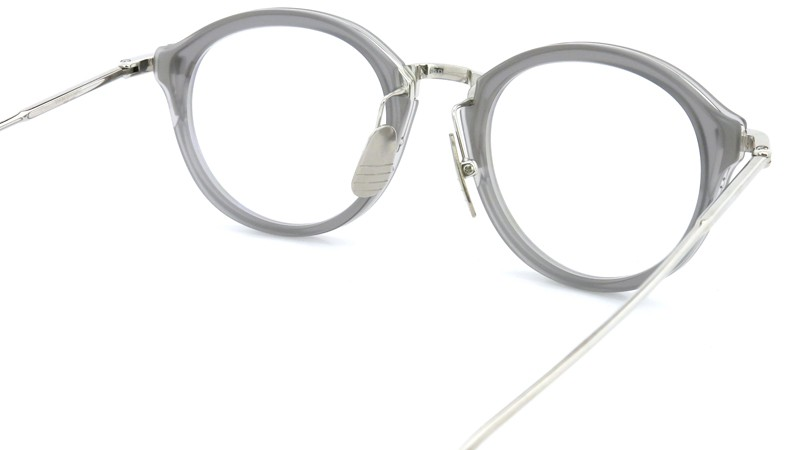 THOM BROWNE. (トムブラウン)メガネ TB-011C 46size SATIN GREY CRYSTAL/SHINY SILVER BRIDGE AND TEMPLES 7