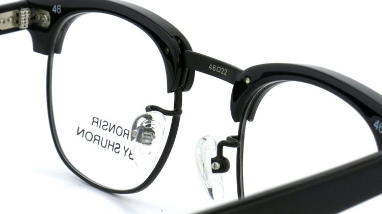 SHURON(シュロン) メガネフレーム RONSIR ZYL (Black/Black) 46-22 8