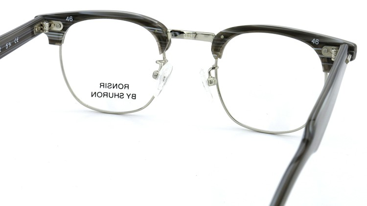SHURON(シュロン) メガネフレーム RONSIR ZYL (Grey Briar/Silver) 46-22 7