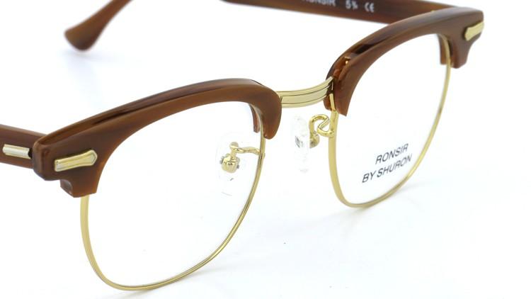 SHURON(シュロン) メガネフレーム RONSIR ZYL (Golden Briar/Gold) 46-22 6