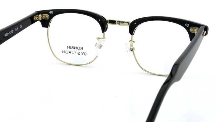 SHURON(シュロン) メガネフレーム RONSIR ZYL (Black/Gold) 46-22 7