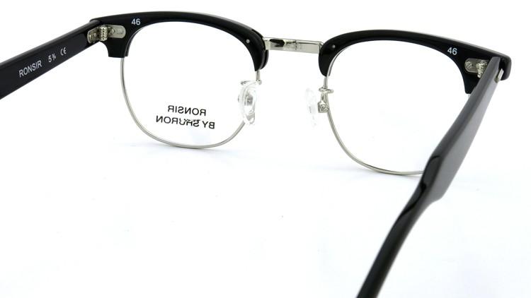 SHURON(シュロン) メガネフレーム RONSIR ZYL (Black/Silver) 46-22 7