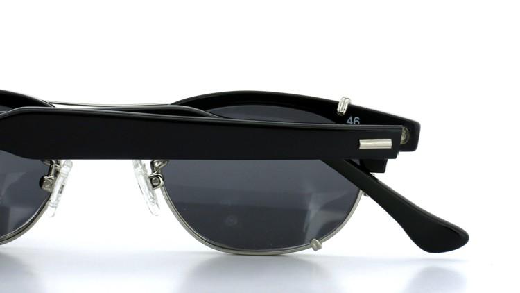 SHURON(シュロン) RONSIR REVELATION 46size Black/Silver メガネ+クリップオンサングラス 13