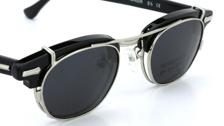 SHURON(シュロン) RONSIR REVELATION 46size Black/Silver メガネ+クリップオンサングラス 7
