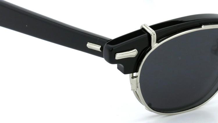 SHURON(シュロン) RONSIR REVELATION 46size Black/Silver メガネ+クリップオンサングラス 6