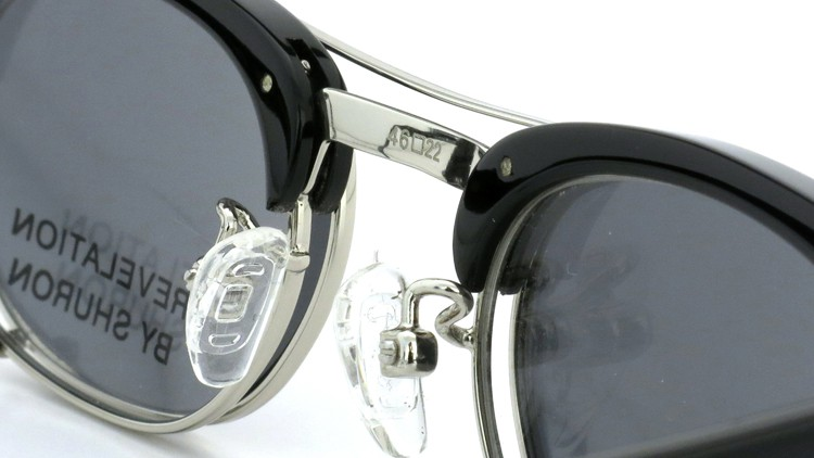 SHURON(シュロン) RONSIR REVELATION 46size Black/Silver メガネ+クリップオンサングラス 9