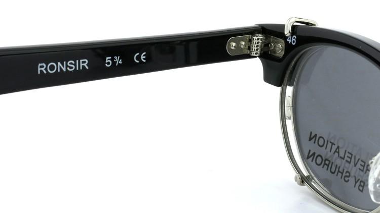 SHURON(シュロン) RONSIR REVELATION 46size Black/Silver メガネ+クリップオンサングラス 10