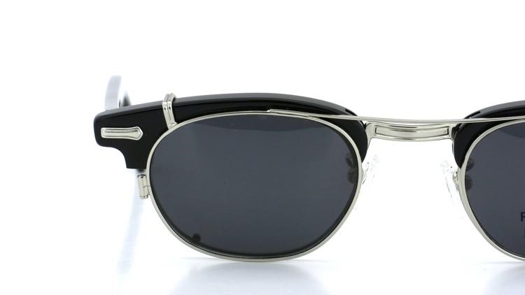 SHURON(シュロン) RONSIR REVELATION 46size Black/Silver メガネ+クリップオンサングラス 14