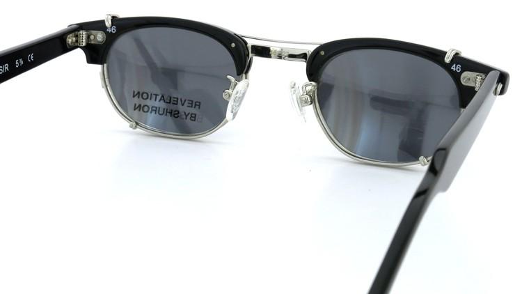 SHURON(シュロン) RONSIR REVELATION 46size Black/Silver メガネ+クリップオンサングラス 8