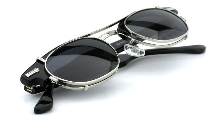 SHURON(シュロン) RONSIR REVELATION 46size Black/Silver メガネ+クリップオンサングラス 11
