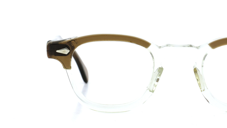 vintage TART OPTICAL メガネフレーム 50s ARNEL BROWN-CLEAR 42-24 (v1) 13