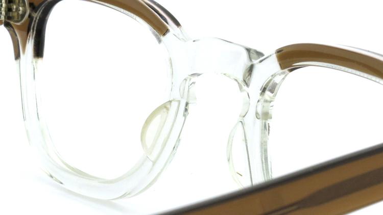 vintage TART OPTICAL メガネフレーム 50s ARNEL BROWN-CLEAR 42-24 (v1) 8