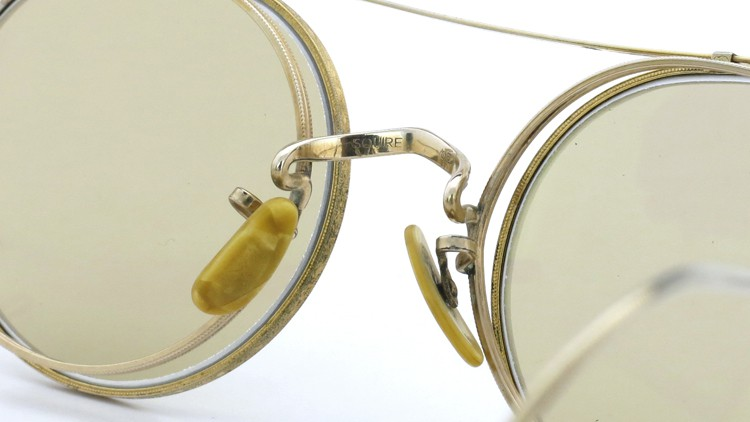 American Optical アメリカンオプチカル (AO)Vintage ヴィンテージ メガネ+クリップオン SQUIRE 1/10-12KGF with CLIPON Light-Brown-Lense 9