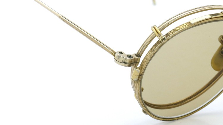 American Optical アメリカンオプチカル (AO)Vintage ヴィンテージ メガネ+クリップオン SQUIRE 1/10-12KGF with CLIPON Light-Brown-Lense 6