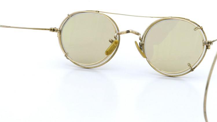 American Optical アメリカンオプチカル (AO)Vintage ヴィンテージ メガネ+クリップオン SQUIRE 1/10-12KGF with CLIPON Light-Brown-Lense 8