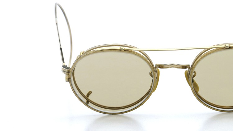 American Optical アメリカンオプチカル (AO)Vintage ヴィンテージ メガネ+クリップオン SQUIRE 1/10-12KGF with CLIPON Light-Brown-Lense 17
