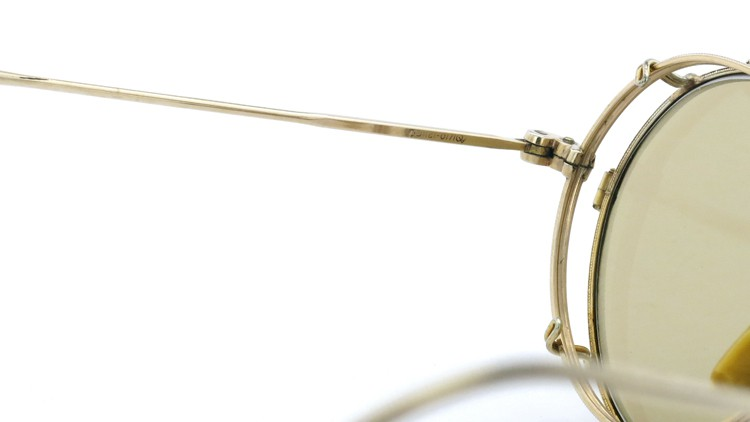American Optical アメリカンオプチカル (AO)Vintage ヴィンテージ メガネ+クリップオン SQUIRE 1/10-12KGF with CLIPON Light-Brown-Lense 10