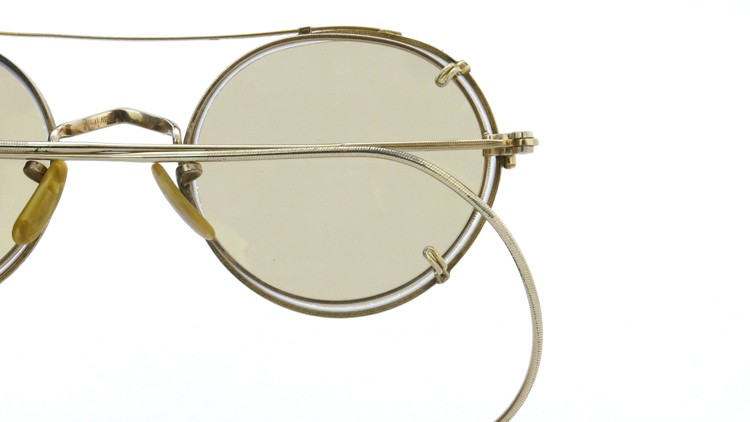 American Optical アメリカンオプチカル (AO)Vintage ヴィンテージ メガネ+クリップオン SQUIRE 1/10-12KGF with CLIPON Light-Brown-Lense 16