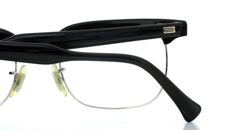 American Optical アメリカンオプチカル (AO)Vintage ヴィンテージ BRONX ブロンクス 1/10-12KGF Black-Wood 48-20 13