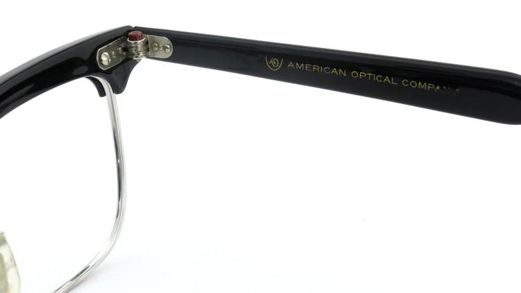 American Optical アメリカンオプチカル (AO)Vintage ヴィンテージ BRONX ブロンクス 1/10-12KGF Black-Wood 48-20 10