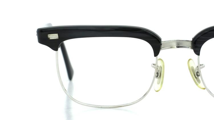 American Optical アメリカンオプチカル (AO)Vintage ヴィンテージ BRONX ブロンクス 1/10-12KGF Black-Wood 48-20 14